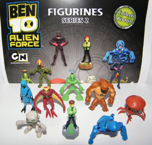 Ben 10 Mini Figure - Alien Force Set Of 11 Vending Toy Figures